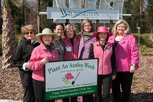 2013 Plant an Azalea Week - Sponsored by the Civic Improvements Committee of the Cape Fear Garden Club